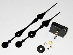 High Torque (SILENT SWEEP) Clock Motor w/Large 8 Fancy Hands (#34F) Wall Clock
