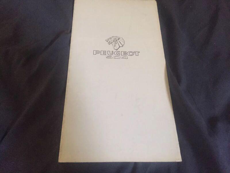 1977 Peugeot 504 USA Market Brochure Prospekt