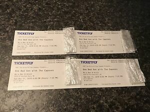 4 One Bad Son Tickets