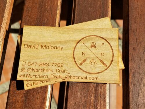 Wood Business Cards | One Sided Business Cards | 100 Wood Business Cards