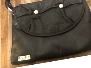 Leather evening purse