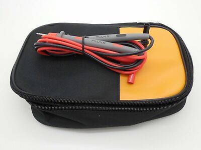 Soft Carrying Case 87 287 289 87v 88v 787 789 Tl71 W Fluke Leads 10a Probes C25