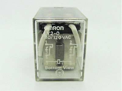 10a Dpdt 120vac - Standard Pcb Mount Relay - Omron Ly2-0-ac120 Nos