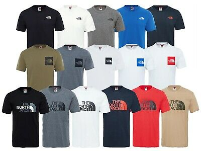 Men's The North Face TNF Short Sleeve Tee Cotton T Shirt Crew Neck 3 Styles