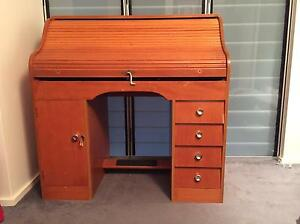 Blonde-wood roll-top desk Cottesloe Cottesloe Area Preview