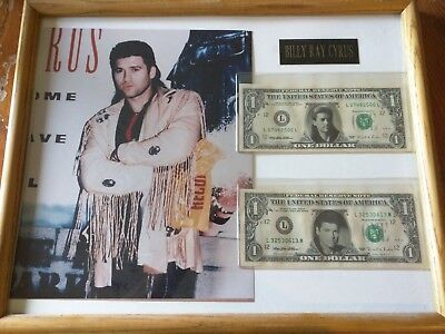 Billy Ray Cyrus collectable Photo and Money