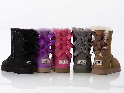 S Stiefel Boots Lammfell Stiefel 22,5 - 38 Mädchen Kinder (Kinder Bailey Bow Uggs)