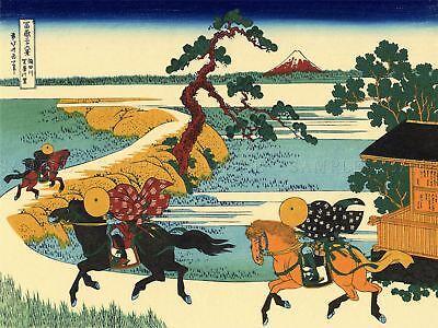 Katsushika Hokusai Thirty Six Views Of Mount Fuji Old Painting Canvas Art (Thirty Six Views Of Mount Fuji Prints)