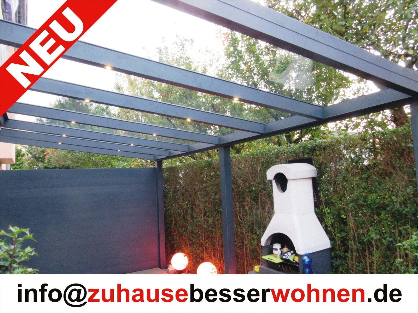 terrassen berdachung carport berdachung aluminium terrassendach vsg glas 3x3m eur. Black Bedroom Furniture Sets. Home Design Ideas