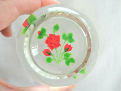 Beautiful CAITHNESS Limited Edition Rose Bouquet Paperweight 13/150