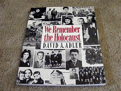 We Remember The Holocaust By David A  Adler  1990 Paperback