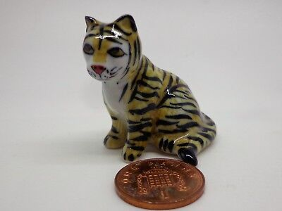 Tiger A , Ornament, Garden Ornament  Dolls House Miniature Animal
