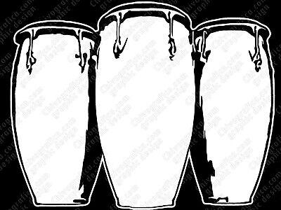 Congas Decal Vinyl Sticker Latin Percussion Tumba Conga Quinto - Percussion Conga
