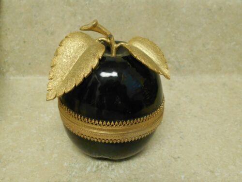 Vintage Evans Enamel Hinged Apple Table Lighter