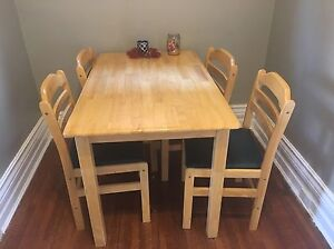 Wood kitchen table with 4 chairs