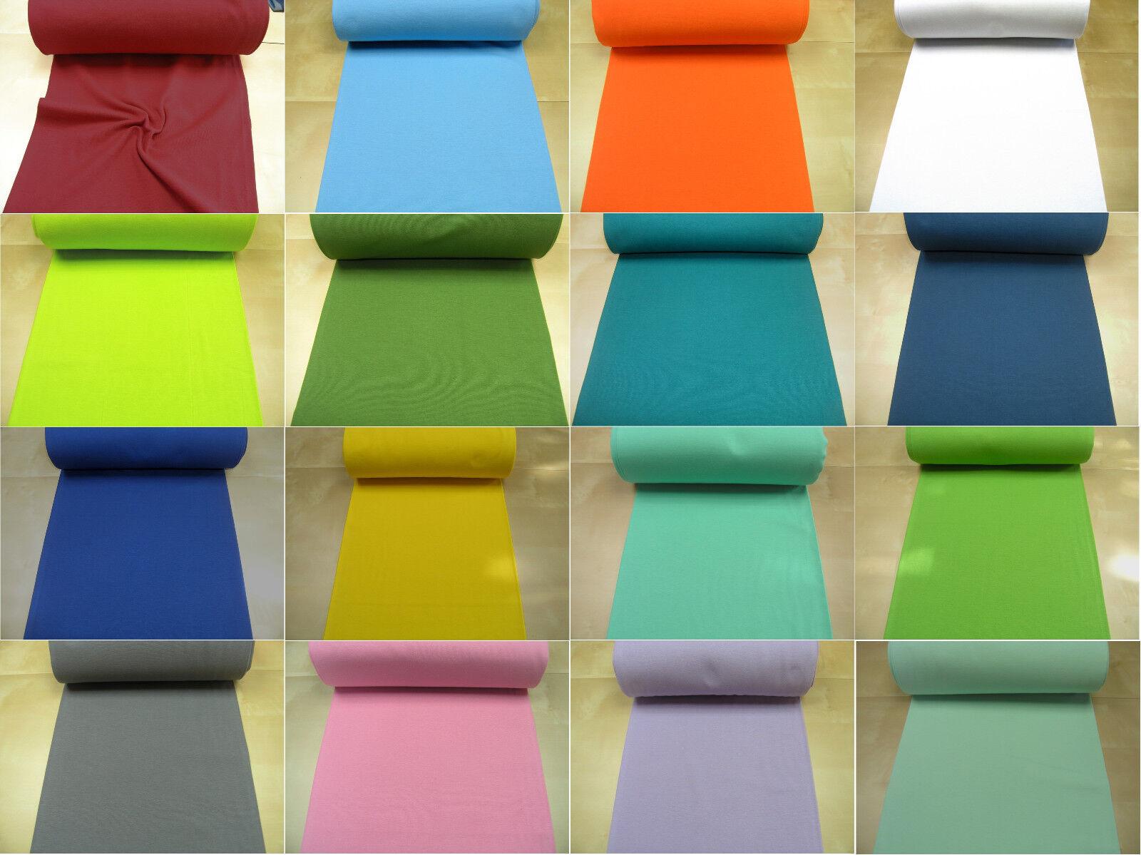 Bündchen Bündchenstoff Schlauchware glatt uni Jersey 0,5m OEKOTEXStandard 100