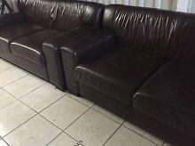 Two piece genuine leather lounge set Plumpton Blacktown Area Preview