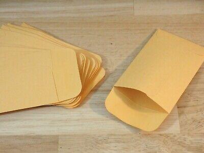 100 Pc Kraft Manila Coin Envelope 2-14 X 3-12 Small Storage Paper Craft