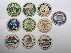 Vintage German Beer Coasters - Lot of ten