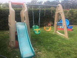 Swing set with slide and cubby house Erina Gosford Area Preview