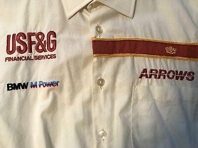 F1 Formula One Mechanics Pit Crew Shirt Vintage 1985-6 Arrows BMW-M Turbo Formula 1 Pit