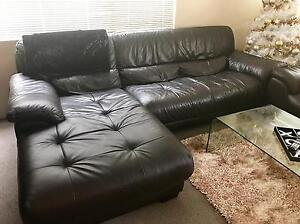 Leather Lounge suite Cronulla Sutherland Area Preview