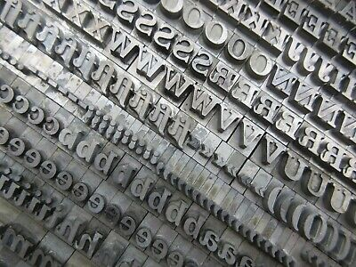 Letterpress Lead Type 30 Pt. Fortune Bold Italic - Bauer Type Foundry  B24