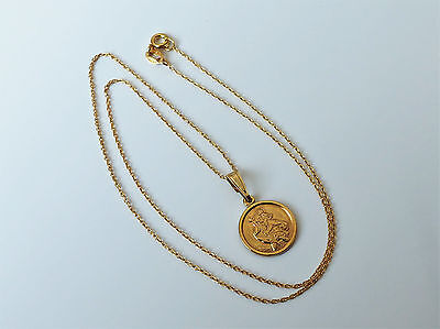 18Ct Gold Over Sterling Silver St Christopher Pendant Necklace
