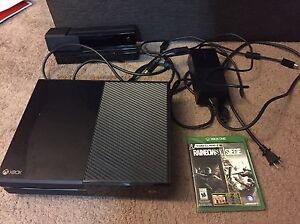 Xbox One w/Kinect and game (no controller)
