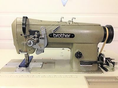 Brother 2 Ndl Split Bar 14 Reverse Big Bobbins 110v Industrial Sewing Machine