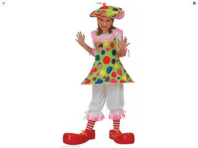 Girls Age Xl 11/13 Halloween Clowning Around Circus Clown Fancy Dress Costume](Girl Halloween Costumes Age 11)