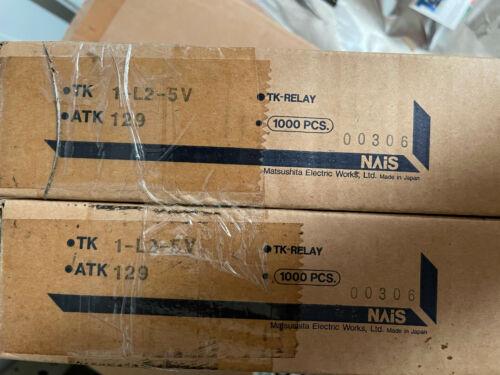 TK1-L2-5V   AROMAT/NAIS GP Relay (2-Coil Latch) SPDT 5V DC 2A Thru-Hole, 6 pin