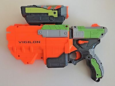 Nerf Vortex Vigilon Disc Gun Blaster Launcher Hasbro 2010 With SCOPE - Disc Gun