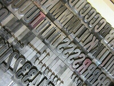 Letterpress Lead Type 72 Pt. Alternate Gothic Caps S Punct.  C40