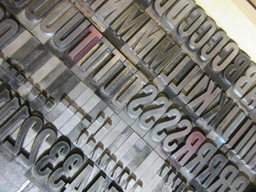 Letterpress Lead Type 72 Pt. Alternate Gothic ( Caps, #