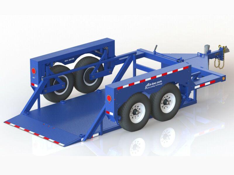 Hydraulic Drop Deck Equipment andScissor Lift Trailer 6
