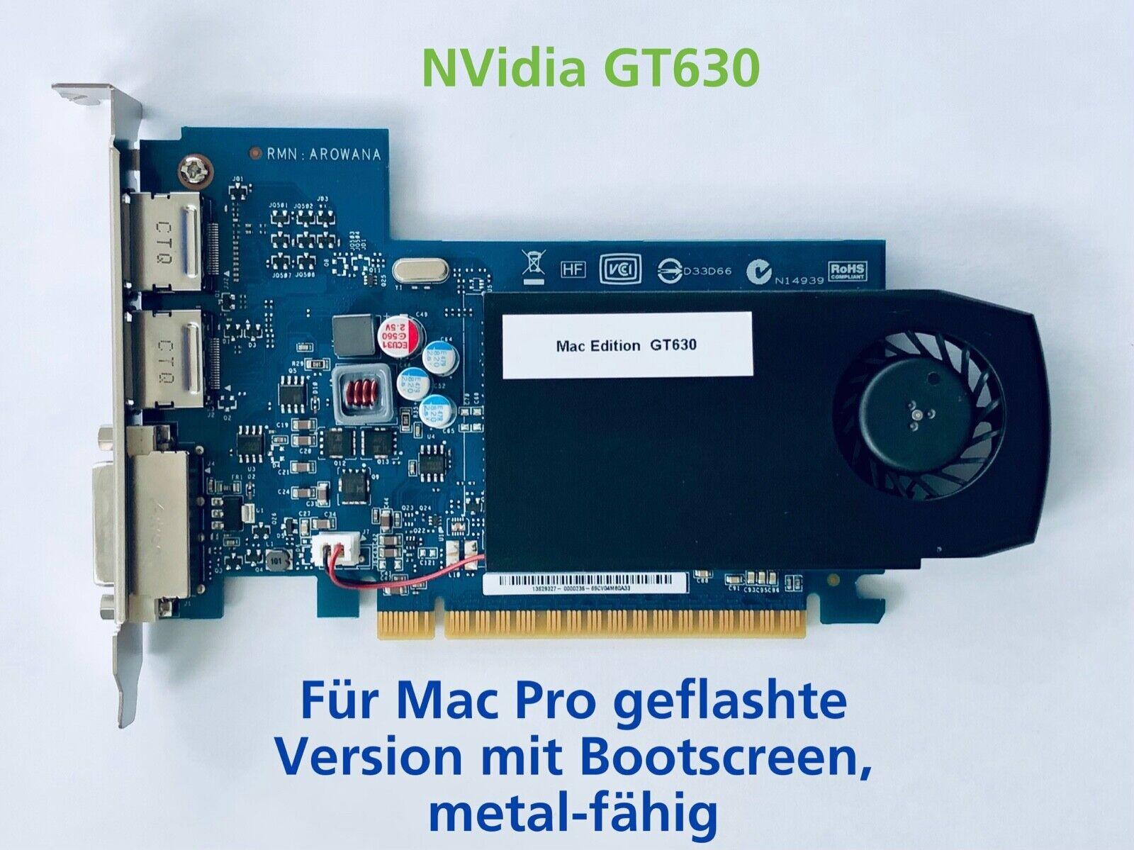 Grafikkarte NVidia GT630 Mac Edition - für Mac Pro 3,1 / 4,1 / 5,1 - Bootscreen!
