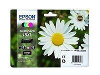 Epson Daisy 18XL Capacity Ink Cartridges - Black/ Cyan/ Magenta/ Yellow (Pack of 4)