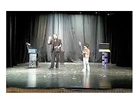 Profesional magician with long experience working in family shows.