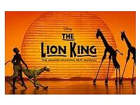5 x lion king tickets for Saturday 29th April 2017 7.30 pm at the Lyceum in London