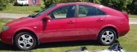 Nissan Primera SE CVT. Automatic. 2L. 2003. Hatchback. Low Mileage. New MOT. Petrol