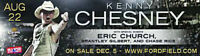 Kenny Chesney and Eric Church tickets