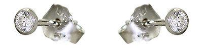 Ohrstecker - Stecker 3,6 mm Ohrringe Silber 925 mit Zirkonia - Silberohrstecker