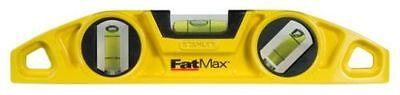STANLEY FATMAX TORPEDO SPIRIT LEVEL -  MAGNETS   0-43-603 + 2 DeWalt Pencils