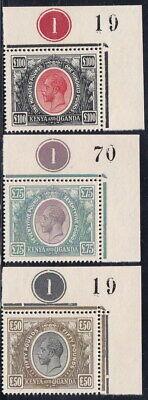 3 KUT Kenya & Uganda 1922 KGV Corner Margin MNH Gummed Reproduction Stamp sv