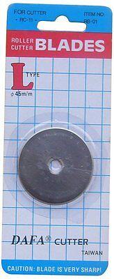 2 x 45mm DAFA Rotary Cutter Spare Replacement Blade Fits OLFA & FISKARS
