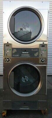 Huebsch Stack Stainless Steel Dryer Coin Op 30lb 120v 1ph Sn1204003845 Ref