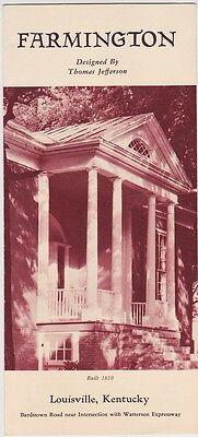 1960's Farmington Historic Home Promotional Brochure
