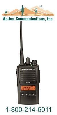 New Vertexstandard Vx-264 Uhf 403-470 Mhz 5 Watt 128 Channel Two Way Radio