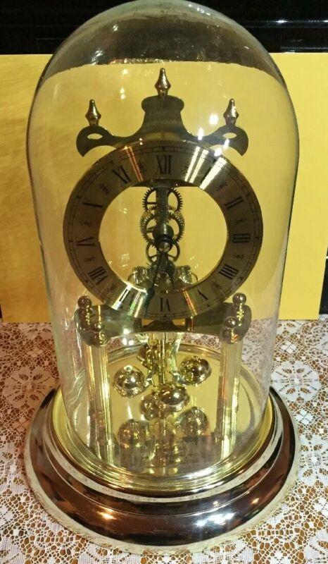 Vintage 1986 S. Haller Germany Skeleton Anniversary Clock - working